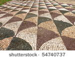 Ancient mosaic pattern in Caracalla Baths. Rome, Italy