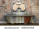 Renaissance marble fountain in Rome, Italy
